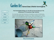 Hummingbird Garden Art