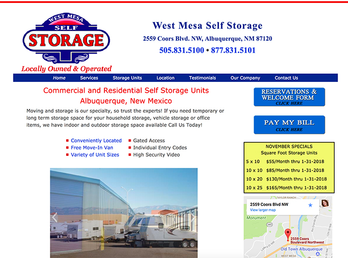 West Mesa Storage, Albuquerque NM