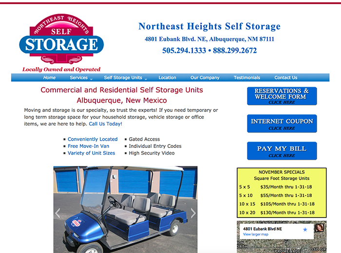 Northeast Height Self Storage, Albuquerque NM