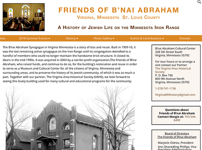 Friends of B'nai Abraham, Virginia, MN