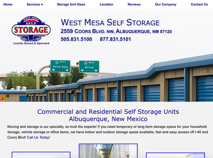 West Mesa Self Storage, Albuquerque NM